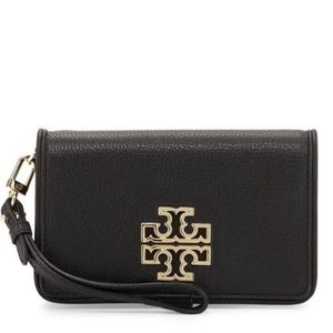 Black Tory Burch Phone/wallet Wristlet